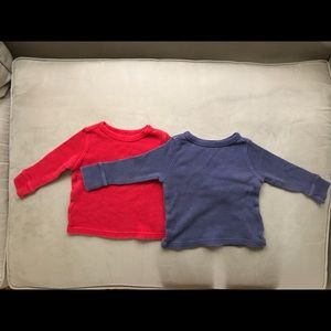 Old Navy Unisex Baby Thermal Shirts Size 12-18M